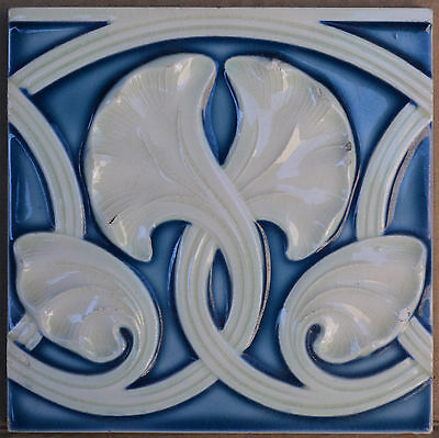 Antique Helman Belgium - Majolica Tiles  C1900