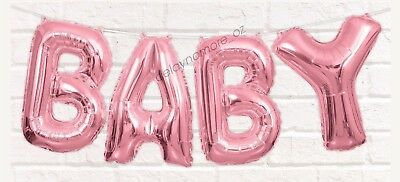 Baby Shower Party Decoration Pink Baby Letter Foil Balloon Banner Bunting Girl