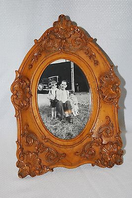 RARE BEAUTIFUL ORNATE VINTAGE Carved wood STANDING EASEL picture FRAME antique
