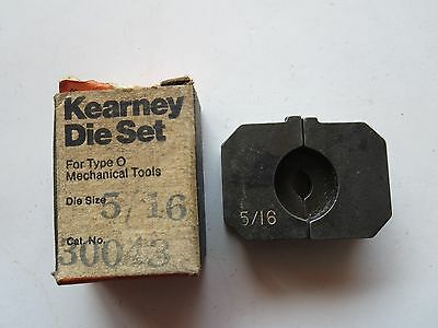 Kearney Die Set Size 5/16 For Type O Mechanical Tool