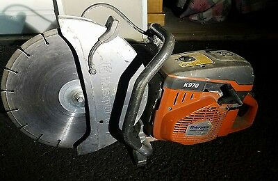 "Used 14"" Husqvarna K970 Concrete Cut Saw With Blade. Free Shipping."