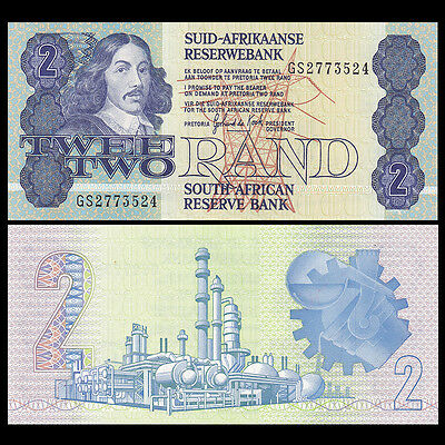 South Africa 2 Rand, ND 1983-1990, P-118d, UNC