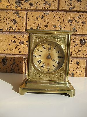 Antique Junghans German Striking Carriage Clock - Not Working & with Faults