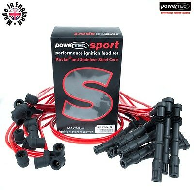 PowerTEC Sport 8mm Ignition HT Leads Cable Wires Mercedes 600 SL 600SL M120 R129