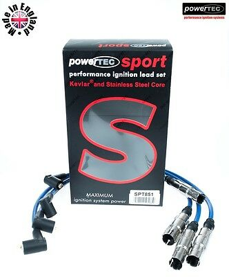 PowerTEC Sport 8mm Ignition Leads HT Cables Wires Volkswagen Passat Bora 1.6 2.0