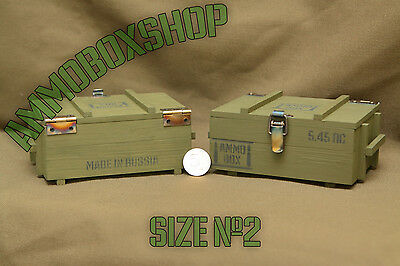 Ammo Box Small Casket Ammunition Drawer Accessory Storage crate  Wood Size 2