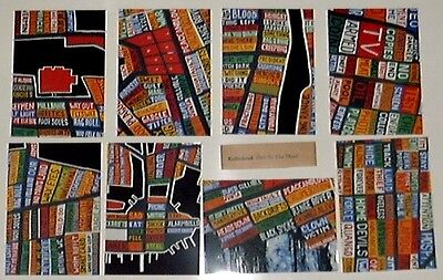 RARE Radiohead HAIL TO THE THIEF Promo Only Set of Eight 8 Postcards Custom Band