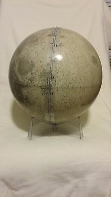 "Vintage Rand McNally 12"" Lunar Globe with clear base"