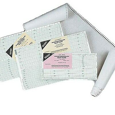 Oakton WD-08368-41 Chart Paper for 3 Speed Hygrothermograph, 0 Degree C, 7 Day R