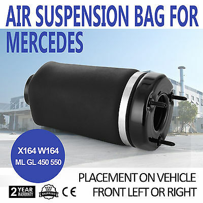 Avant Air Suspension bag pour Mercedes ML GL 350 450 Classe W164 X164 Nouveau