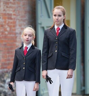 Shires Aston Show / Competition / Riding Jacket - Child / Junior - Black / Navy