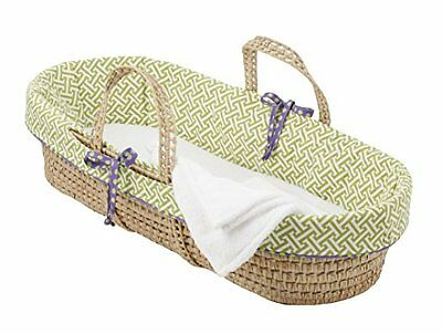 Brand New Cotton Tale Designs Moses Basket, Periwinkle/Boy