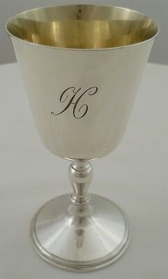Silver Charles I Style Wine Goblet With a Gilded Interior London 1969 144mm 180g