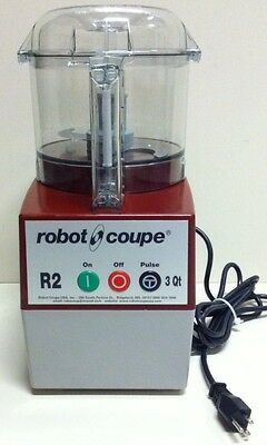 """Robot Coupe R2 Food Processor With 3 Quart Clear Mixing Bowl And """"S"""" Blade"""