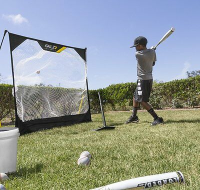 Youth Pop-Back Tee Adjustable Height Batting Trainer Ball Baseball By SKLZ