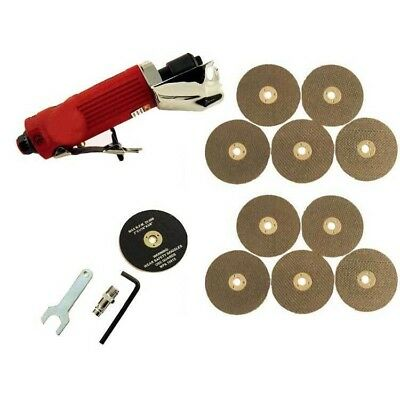 "3"" Air Cut Off Tool Grinder Cutter Tools + 11 Cutting Discs - 3 Year Warranty"