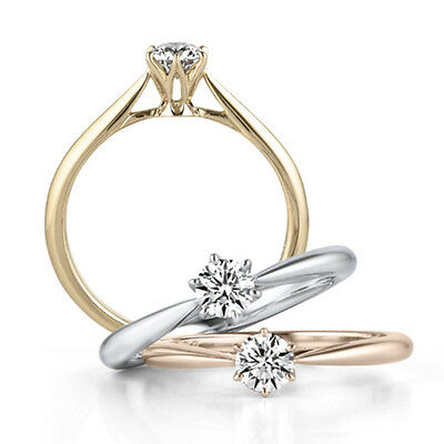 18K White/Gold/Rose Gold 925 Silver Women's Gift Engagement Party Rings Size 4-9