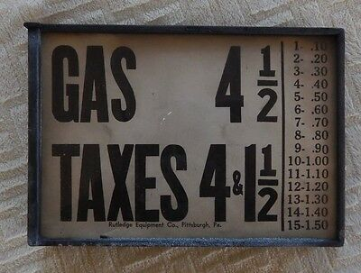AMOCO Changeable Pump Price Sign ca. 1920s Rutledge Pittsburgh