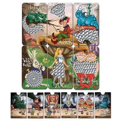 Alice In Wonderland Grinder Card by V-Syndicate Complete collection x 6 pieces