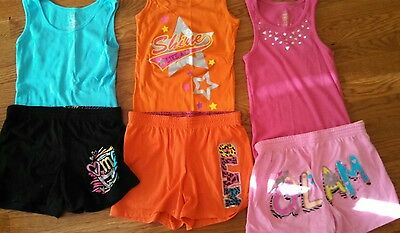 Girls Tank Top And Shorts 3 Outfits Size 7/8 New Without Tags