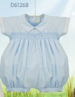Pretty Originals Summer Baby Boys Romper Blue 6M Or 9M D61268