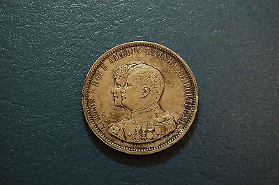 PORTUGAL. 1898 Silver Crown 1000 REIS. DISCOVERY OF INDIA. GREAT. Free Ship