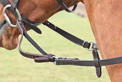 Shires Flexi-Rein Attachment Relieves Rein Tension Horse/Pony, Black/Brown