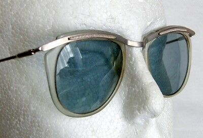 Vintage USSR Made Blue Glass Lenses Sunglasses Vintage Fashion Eyewear CCCP 1971
