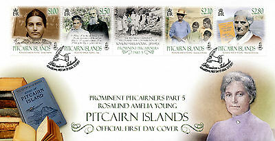 Pitcairn Isl 2017 FDC Prominent Pitcairners Pt 5 Rosalind Young 4v Cover Stamps