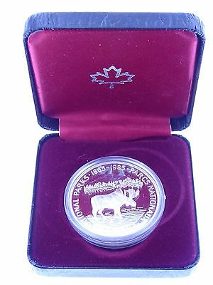 1985 Canada Silver Dollar Moose Proof Coin in Box with COA (KM#143) (5)
