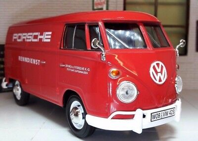 LGB 1:24 Scale VW T1 Split Screen Red Porsche Delivery Van Model Van 1962 79557