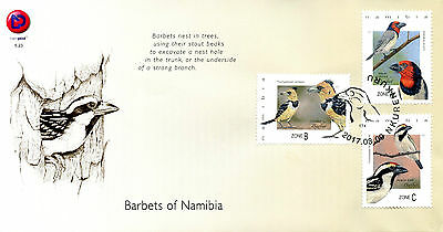 Namibia 2017 FDC Barbets of Namibia 3v Set Cover Birds Stamps