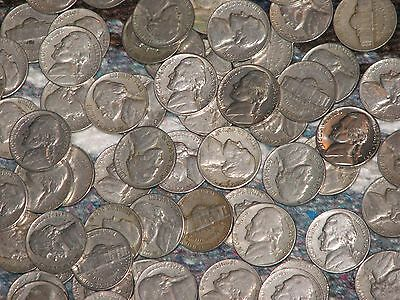 Lot of 69 Jefferson Nickels - 1940's & 1950's - Coins, Coin Collection, US Mint