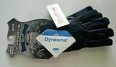 Franklin Uniforce 2nd Skinz Tactical Gloves Cut Dyneema Black Leather Size Small