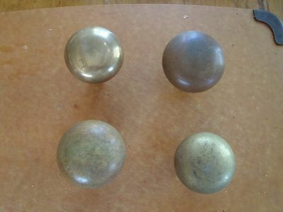 Lot of 4 Vintage solid brass/bronze Door Knobs