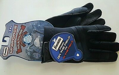 Franklin Uniforce Multi-Use Tactical Gloves Black Leather Neoprene Size XXL