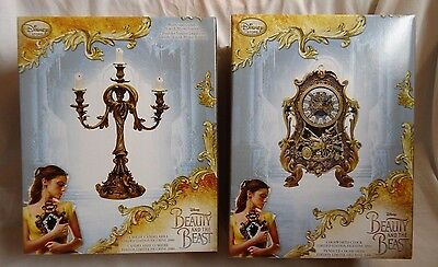 Disney Beauty and the Beast Live Action Movie Cogsworth Clock & Lumiere LE Set