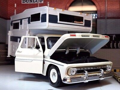 1:24 Scale 1966 Chevrolet Fleetside Northstar Demountable Hallmark Camper Model