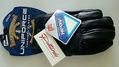Franklin Uniforce Cut & Pathogen Kevlar & Hipora Lined Tactical Gloves Size M