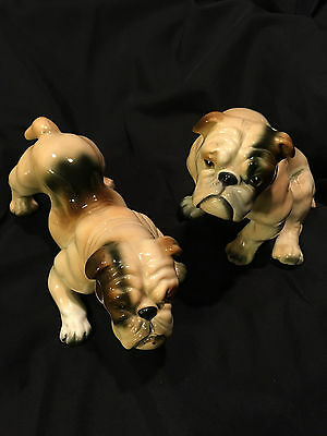 Ucagco PAIR of BULLDOG Figurines Made in Japan Vintage