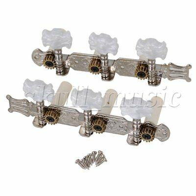 2pcs Metal Machine Heads Tuning Pegs 3R3L for Classical Wooden Guitar Chrome