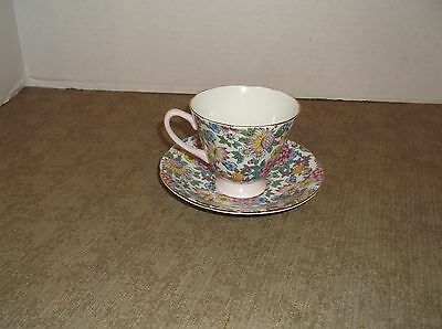 Bone China Cup and saucer by Crownford, made in England
