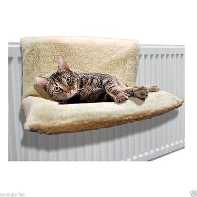 New Cat Dog Radiator Bed Warm Fleece Beds Basket Cradle  Animal Puppy Pet
