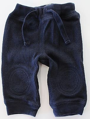 Baby Gap Boys Navy Thermal Pants, Size 0-3 Months, 3M, Drawstring, Supersoft