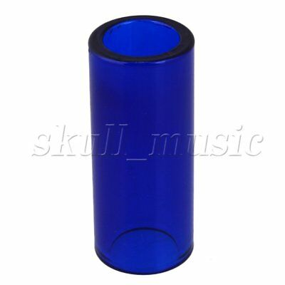 25x67mm Dark Blue BQLZR High Boron Glass Finger Guitar Slide Cylinder Tube