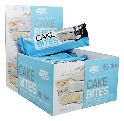 Optimum Nutrition Protein Cake Bite Snack Cakes Protein Bar FREE SHIPPING