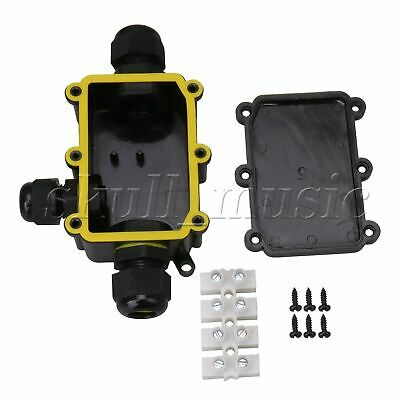 Plastic Waterproof IP68 Outdoor 3 Way Junction Box and Terminal Black BQLZR