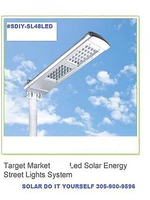 Solar Street Light, Solar Security Light, 48 Bright Leds  New Model, 2000 Lumens