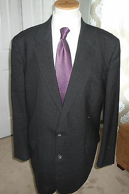 Brooks   Brothers  2  Button  Charcoal  Gray  Wool  2  Pc  Mens  Suit - 48 L