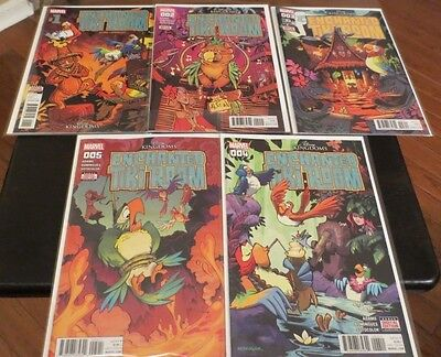 Enchanted Tiki Room Comic Set 1,2,3,4,5 Birds case fresh Marvel Walt Disney Reg